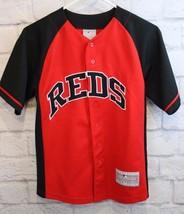 MLB Genuine Merchandise Cincinnati Reds BRUCE Red Black Jersey Y 10-12 - $14.30
