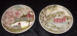 Johnson Brothers FRIENDLY VILLAGE Old Mill & Well Porcelain Coasters~Butter Pats - $3.40