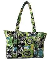 Vera Bradley Limes Up Green Blue Floral Tote Shoulder Purse Handbag - $29.72