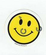 Sticker ~ Happy Face by C & D Visionary Inc. ~ 2000 ~ with piercings - $2.65
