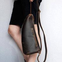 On Sale, Horse Leather Men Chest Pack, Handmade Chest Bag, Messenger Bag image 5