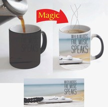 When Words Fail Music Speaks Quote Magic Color Change Coffee Mug 11 Oz f... - $15.83