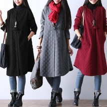 Women's Clothing Casual Retro Long Coat Long Sleeve Jacket Pullover Outwear - $37.74