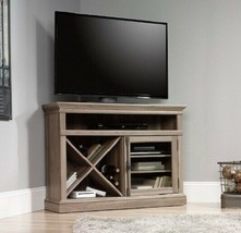 "Cottage Corner 42"" TV Stand Media Console Glass Door Recycled Wood Wood Oak - $323.31"