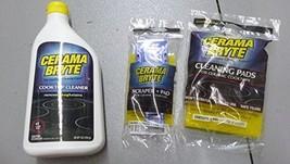 Cerama Bryte Ceramic Cooktop Cleaner 28 oz, Scraper and 5 Cleaning Pads ... - $16.41