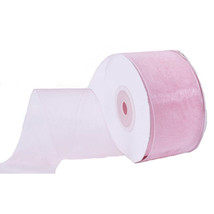 "1.5"" Plain Sheer Organza Nylon Ribbon 25 Yards - Light Pink - $6.92"