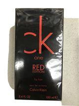 Calvin Klein CK One Red Cologne 3.4 Oz Eau De Toilette Spray for men image 1