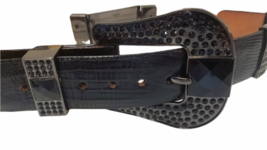 Lot of 3 Wild West Boots Women Rhinestone Belt Sz 28 Genuine Ostrich Leather image 3