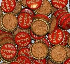 Soda pop bottle caps Lot of 25 HIRES root beer SPECIAL SALE cork new old... - $12.99