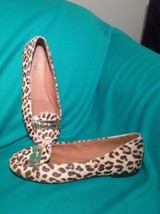 Sperry TOP-SIDER Brooks 5M Leopard Pony Calf Hair Flats Loafers Women's Shoes - $29.69