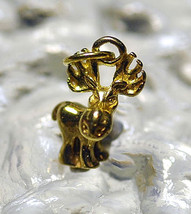 LOOK Cartoon 3D Moose 24kt gold plated charm Pendant jewelry - $17.65