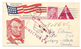 Auxiliary Mark Pointing Finger RETURN TO DIRECTORY UX44 FIPEX 1957 Patri... - $24.95