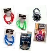 Locks Padlocks Cable Chain Combination Key Security Bikes Gates  - $6.92+