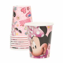 Disney Minnie Mouse Iconic 9 oz Paper Cups 8 Per Package Birthday Party - $4.21
