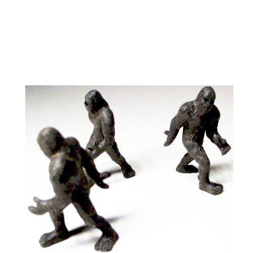 Dollhouse 3 Toy Bigfoot Figure Game Pcs 12050  Micro-mini Miniature - $4.46