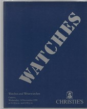 Christie's Auction Catalog-Watches, Wristwatches-November 14, 1999 - $15.00