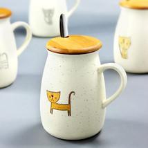SIVAPHE Cute Creative Cat Kitty Ceramic coffee Mug belly - $30.95
