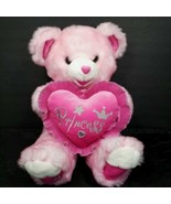 "Dan Dee Sweetheart Hot Pink Pillow Teddy Bear Princess Heart 2008 Plush 21"" - $29.69"