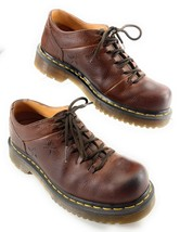 Dr Martens AirWair Peanut Oxford Shoes Grizzly Brown Leather Women's 7 US 38 EUR - $38.60