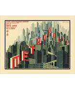 8.5x11 Vintage METROPOLIS Fine Art Deco Print Picture Poster Women Robot... - $12.16