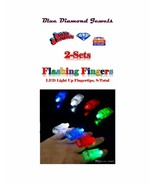 FLASHING FINGERS LED Finger Ring Flashlights, 2 cards of 4 lights=8 US S... - $13.95