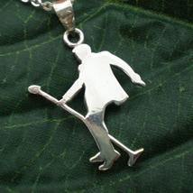 Handmade 925 Sterling Silver Elvis Presley Dancing Necklace Pendant Musi... - $42.00