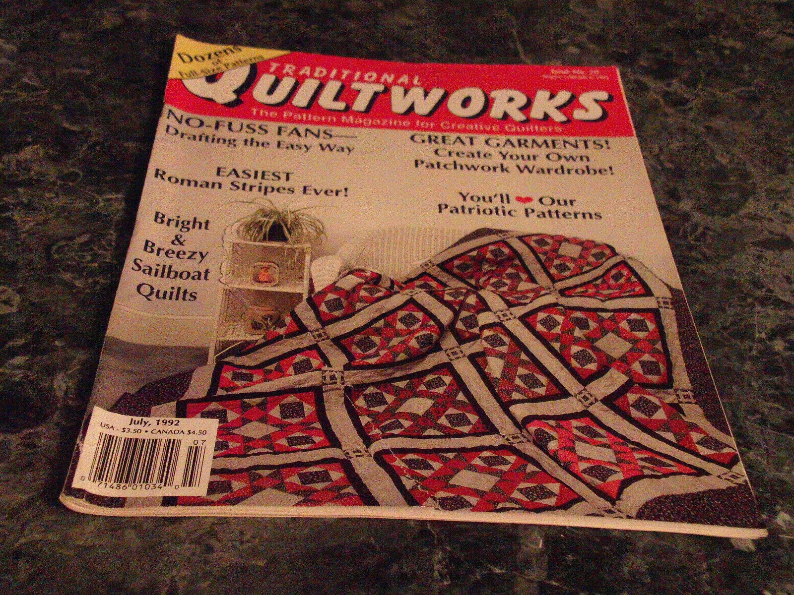 Traditional Quiltworks Magazine No 20 July 1992 Joseph's Coat - $0.99