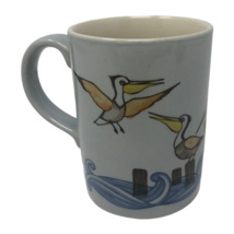 Otagiri Coffee Mug Tea Cup Pelicans Beach Ocean Waves - $17.81