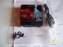 GameBoy Advance SP Black Handheld System - WITH USB - NEW FIRE/ICE SKIN... - $64.99