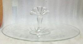 """VTG TEARDROP PAT GLASS TRAY 12 PETAL HUGHES CORN FLOWER PATTERN 11"""" w HA... - $39.59"""