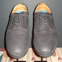 Men's NIKE IE Black Leather Casual Oxford Nike Air Rubber Sole Sz. 11M - $40.47