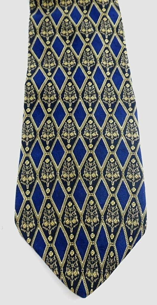 Geoffrey Beene Necktie Tie Silk Lot of 2 Black Blue Brown Geometric Swirls image 5