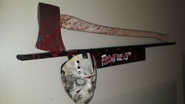 friday the 13th Jason lives voorhees wall display axe art prop - $185.72