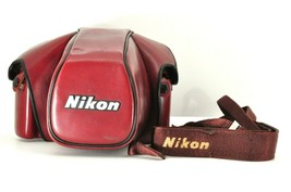 """"""" EXC +3 """" Nikon CF-22 Leather Case w/ Strap for F3 F3HP 35mm Camera fro... - $59.39"""