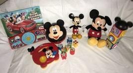 Disney Store Plush Mickey Mouse Clubhouse Blocks Talking Book Sorter & Radio - $29.69