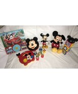 Disney Store Plush Mickey Mouse Clubhouse Blocks Talking Book Sorter & R... - $29.69