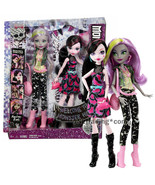 Yr 2015 Welcome to Monster High 2 Pk 11 Inch Doll Set DRACULAURA & MOANI... - $79.99