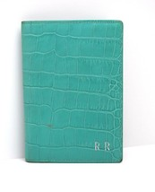Smythson Mara Collection Leather Passport Cover Green - $80.74