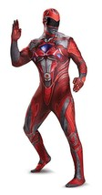Disguise Power Rangers Red Ranger Movie Bodysuit Mens Halloween Costume ... - $44.99