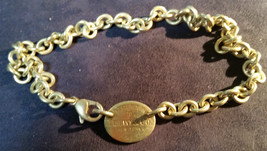 Please Return To Tiffany & Co Ny Sterling Silver Oval Chain Necklace #73409 Dbw - $213.83