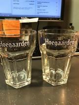Set Of 2 Hoegaarden Beer Glasses Full Size Pint Glasses Excellent - $30.00