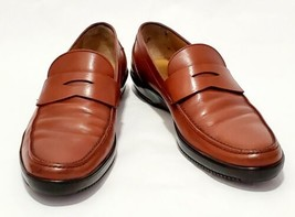 Men's Salvatore Ferragamo Brown Leather Penny Strap Driving Shoes Size 9 E Italy - $107.86