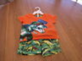 Green Dog baby 18M 18 months MO swim shorts t shirt 2 PC set boy ORANGE NEW - $7.47