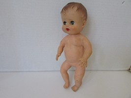 """VINTAGE 10.5"""" RUBBER BABY DOLL 18 VB 1 MOLDED HAIR SLEEPY BLUE EYES JOINTED - $6.95"""