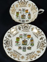 VTG Paragon Fine Bone China England Canada Coats Arms #515 Cup & Saucer set - $38.61