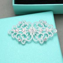 Rhinestone Crystal Vintage Wedding Hook and Eye Sew On Closure Button Clasp - $8.59