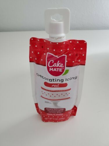 Cake Mate CM249-58 Decorating Icing, 8oz, Red - Other