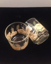 Vintage 70s Libbey Flower and Fern juice glasses- set of 2 image 3