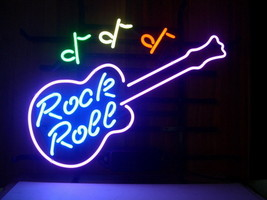 "New New Rock and Roll Music Guitar Beer Bar Neon Sign 20""x16"" Ship From USA - $123.00"