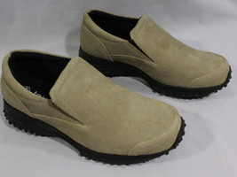 Womens Totes Slip On Tan Suede Sneakers Size 7 1/2 W Comfortable Walking... - $22.95